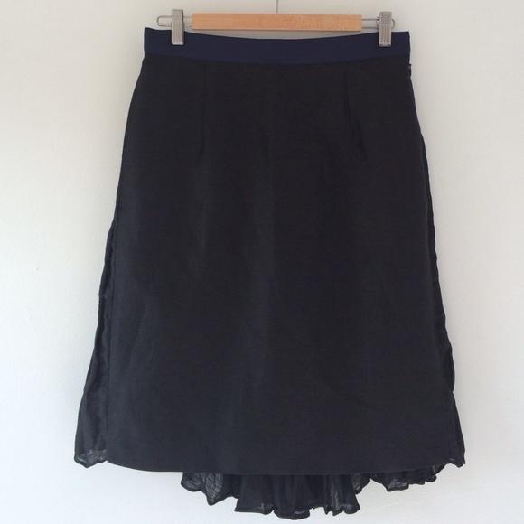 Sacai Skirts - Sacai dual texture linen skirt.