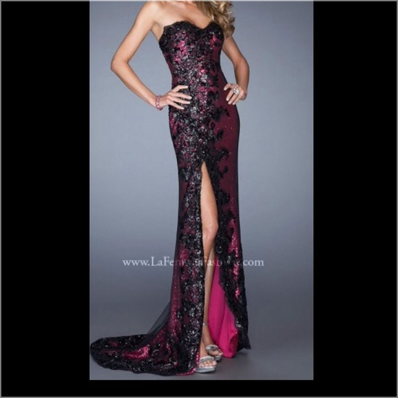 Two-Tone Purple Prom Dresses 108