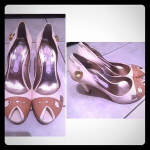 Fabi Shoes - Nude & White European Pumps