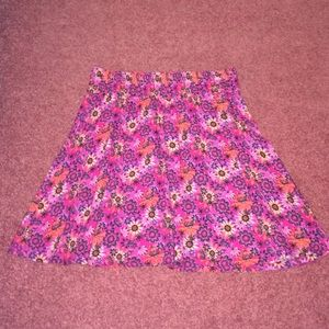 Frenchi pink floral skirt