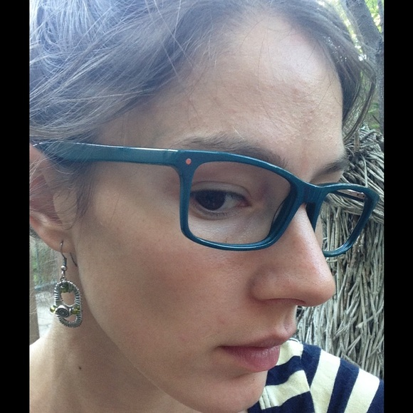 59f43343d7 Eye Buy Direct Accessories - Eye Buy Direct Teal Glasses Reading Frames  Square