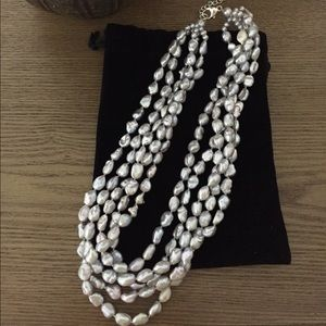 Genuine 5-layer Kenshi Pearl necklace