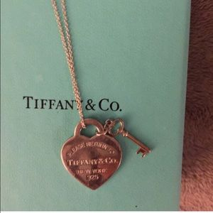 Authentic Tiffany & Co necklace with key charm