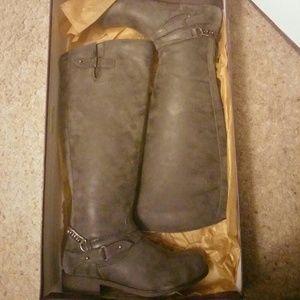 e5dc60d9874 Madden Girl Shoes - Madden Girl Riding Boots Dark Grey Suede Sz 7.5
