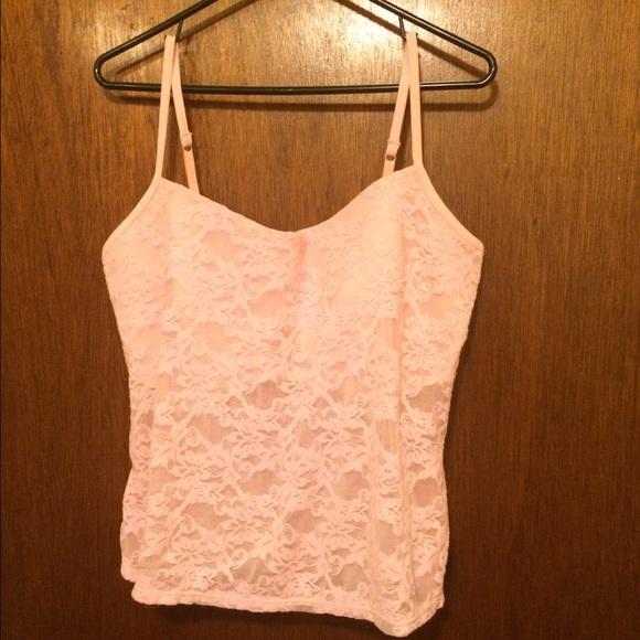 7cf5ae014b18a NWOT Pink Lace Cami w built in bra. Undrwr Bundle.  M 55dbc544ea3f364cab024e35