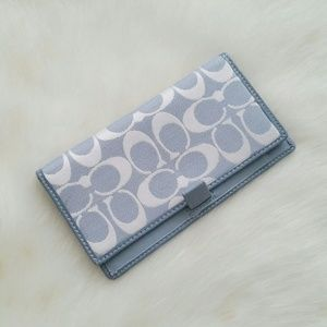 Coach Clutches & Wallets - Coach Blue Checkbook Cover Wallet