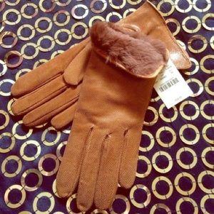 FLASH SALE J.Crew Brown Leather Gloves