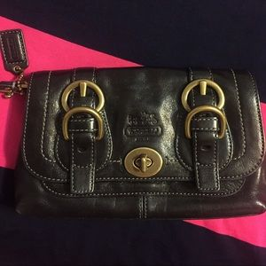 Coach Legacy Leather Wristlet/ Clutch