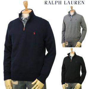 Polo Ralph Lauren half zip mock neck sweater