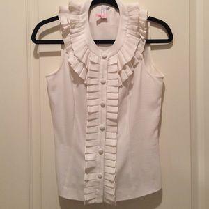 Anthropologie gorg ruffle sleeveless top size 4