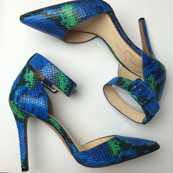 Blue Green High Heels | Tsaa Heel
