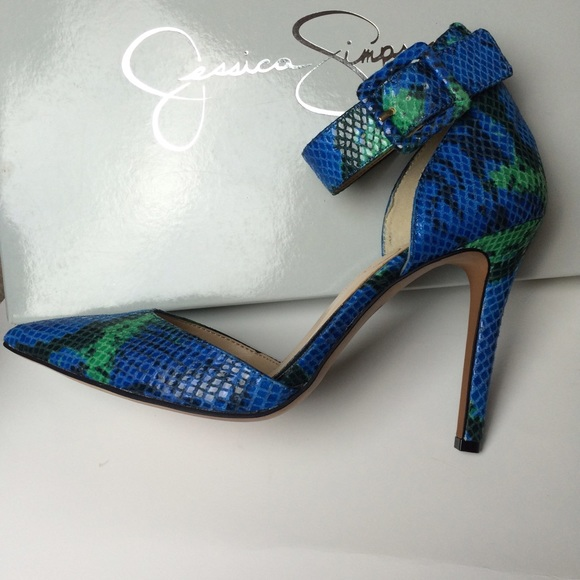 74% off Jessica Simpson Shoes - high heels blue green snake skin