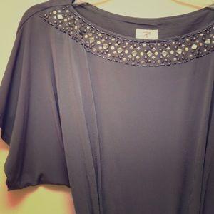 Suzi Chin Gray Jersey Dress