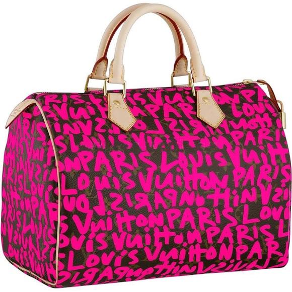 bc26c6c3b7b Louis Vuitton Handbags - Louis Vuitton Stephen Sprouse Graffiti Speedy 30