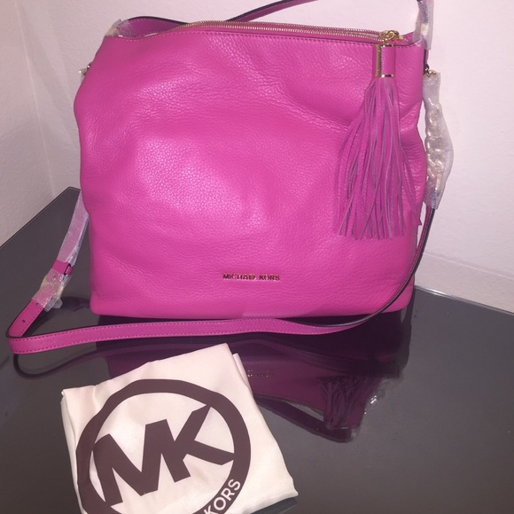 michael kors bags zinnia weston purse hobo bag pink poshmark rh poshmark com