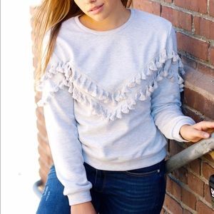LAST CALL Tassel sweater