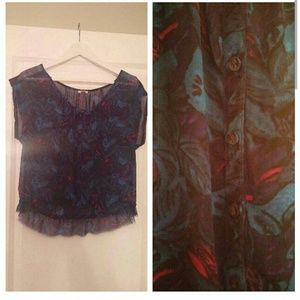 Urban outfitters ecot? leaf/floral shirt