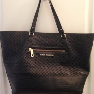Juicy Couture Perforated Leather Large Tote