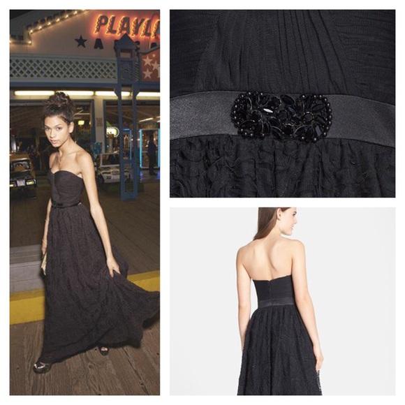 Black Rosette Dress