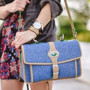 3 LILY PADS denim handbag