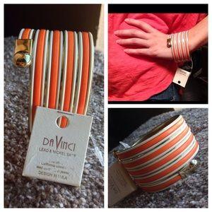 Orange Striped Snake Bangle