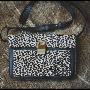 Joie Calf hair and leather purse