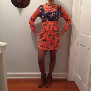 Dresses & Skirts - Vintage Butterfly-print Dress butterfly 🦋