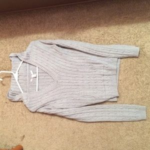 Old Navy Grey hooded sweater