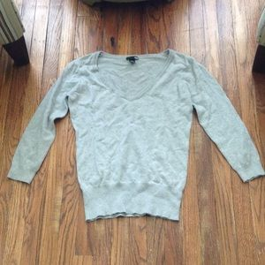 H&M heather gray v-neck sweater
