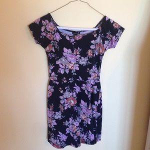 Floral Short-Sleeve Dress