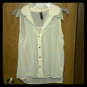 Poof Couture Tops - Sheer sleeveless shirt