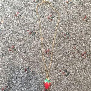 Jewelry - STRAWBERRY CHARM NECKLACE