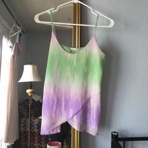 Saprano from Nordstrom Tops - Sheer Tie Dye Cami Blouse