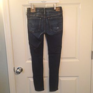 a78f89269bae8 American Eagle Outfitters Jeans | Ae Bright Indigo Destroy Jeggings ...