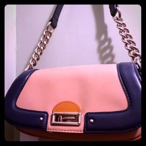 Banana Republic nude and blue Purse