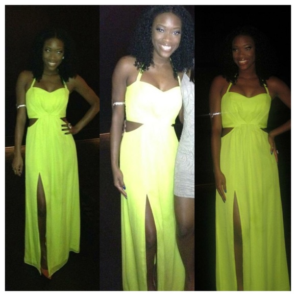BCBGeneration Dresses & Skirts - Neon cut-out Maxi Dress
