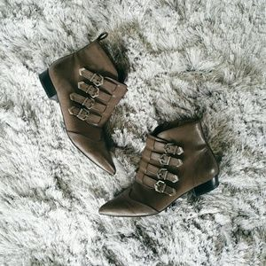 Cool Brown/Grey Fall Ankle Boots