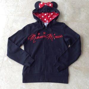 Disney Jackets & Blazers - Minnie Mouse ears hoodie jacket