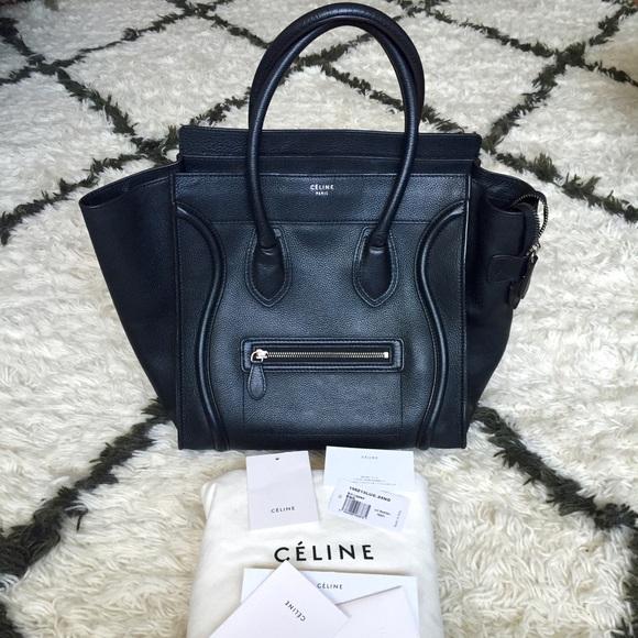 Celine Handbags - 💯Celine Luggage Black. Tags box LIKE NEW 9392a32701d3c