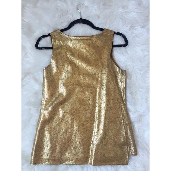 BCBGMaxAzria Tops - Metallic Gold Sleeveless Top
