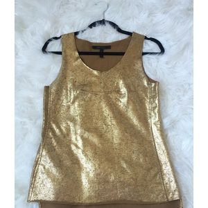 Metallic Gold Sleeveless Top