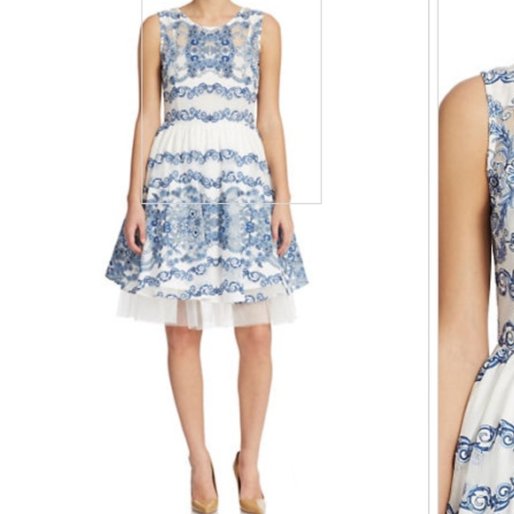 Renee Dress In Grecian Blue Nwt