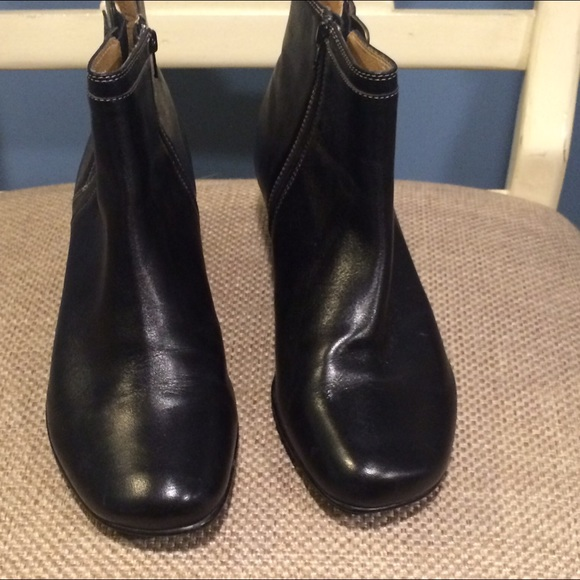 66 soft spots shoes black leather booties from rene