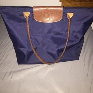Large, navy blue Longchamp Tote.