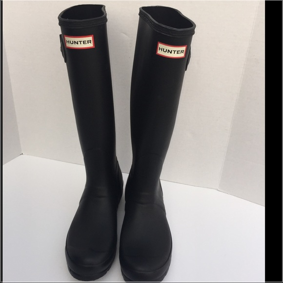 Hunter - Hunter Original Tall Black Rain Boots Wellies 38 7 from ...