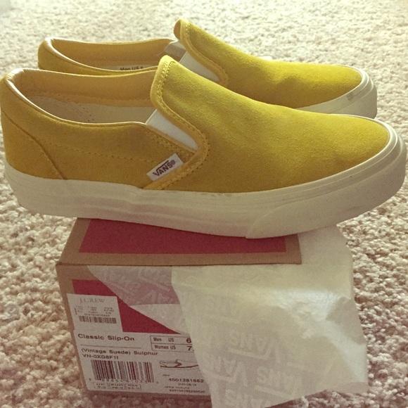 459ccae982 VANS Classic Slip On Vintage Suede Sulphur Yellow.  M 55dd0f4dea3f36c153000d24