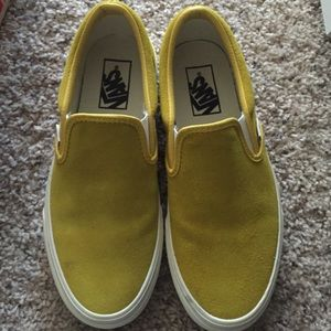 d2c3f466300d Vans Shoes - VANS Classic Slip On Vintage Suede Sulphur Yellow