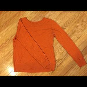 H&M Orange Crew Neck Sweater