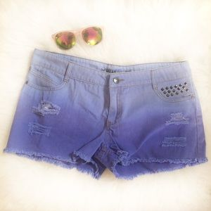 Ombré Cutoff Shorts