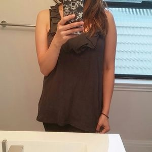 Vanessa Virginia Tops - Grey ruffled tank by Vanessa Virginia!